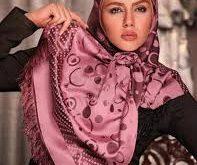 عرضه انواع روسری صورتی