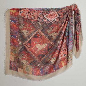 مدل روسری نخی قواره بزرگ