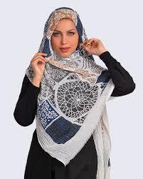 روسری ظرح دار ساتن
